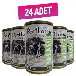 Pati Latte Premium Kuzu Etli Yetişkin Köpek Konserve 415GR * 24 Adet