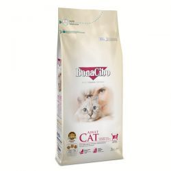 BonaCibo Adult Cat Tavuklu (Hamsi ve Pirinç eşliğinde) Yetişkin Kedi Maması 4 Kg (2+2)