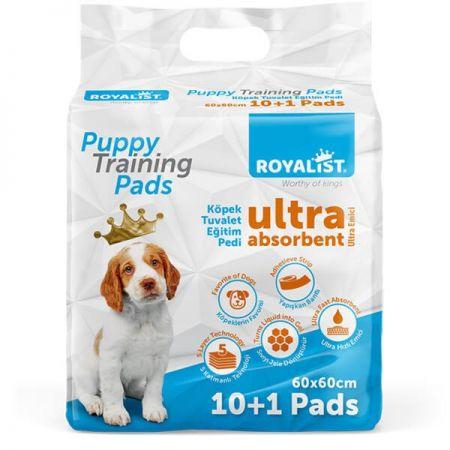 Royalist Yapışkan Bantlı Köpek Tuvalet Eğitim Pedi 60x60 Cm 11 Adet