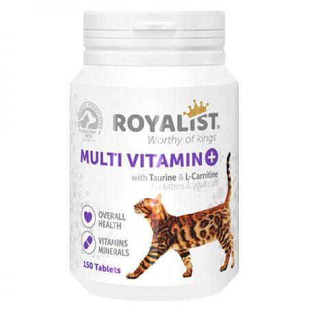 Royalist Multivitamin Kediler İçin Mineral Katkılı Genel Sağlık Destekleyici Tablet 150 Adet