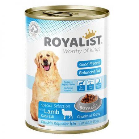Royalist Kuzu Etli Parça Etli Gravy Soslu Yetişkin Köpek Konservesi 400 Gr