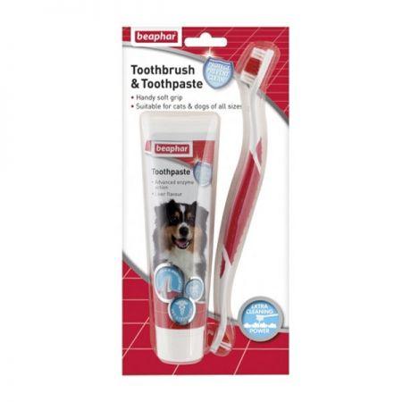 Beaphar Köpek Diş Macunu Ve Diş Fırçası Seti 100 gr