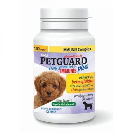 Petguard Yavru Köpekler İçin Ekinezya Beta-Glukan ve Çinkolu İmmunis Tableti 100 Adet