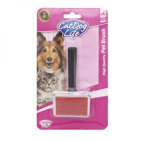 Catdoglife Kedi ve Köpek İçin İnce Tarama Fırçası (L)