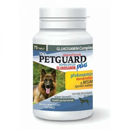 Petguard Köpekler İçin Kondroitinli Glukosamin Tableti 75 Adet