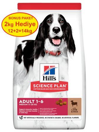 Hills Kuzu Etli Orta Irk Yetişkin Köpek Maması 12 Kg (+2 Kg Hediyeli)