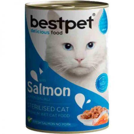 Bestpet Sterilised Somonlu Kısırlaştırılmış Kedi Konservesi 400 Gr