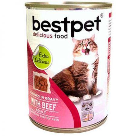 Bestpet Biftekli Gravy Yetişkin Kedi Konservesi 400 Gr