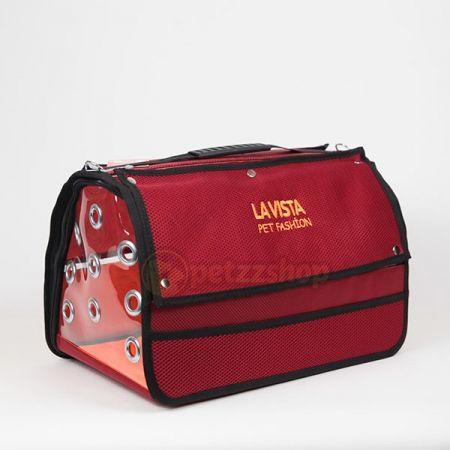 Lavista Perdeli Pet Taşıma Çantası Kırmızı