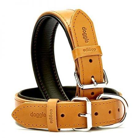 Doggie Fırstclass Köpek Deri Boyun Tasması Medium Camel 3,5x47-55 Cm