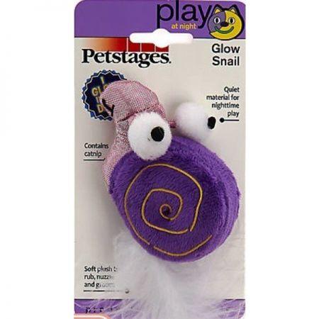 Petstages Glow Snail Karanlıkta Parlayan Salyangoz Kedi Oyuncağı