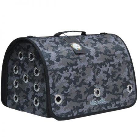 Leon Pet Kapalı Fly Bag Taşıma Çantası Kamuflaj 26x42x26h Cm