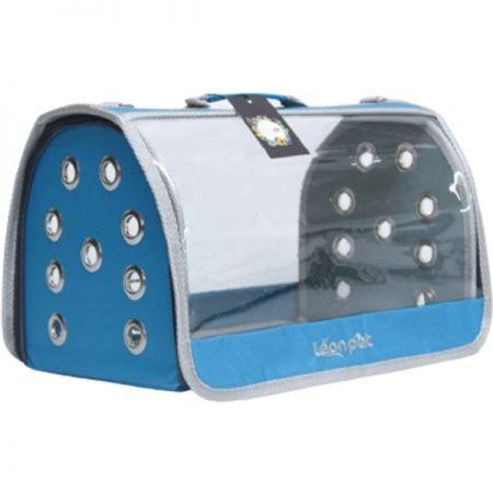 Leon Pet Şeffaf Fly Bag Taşıma Çantası Mavi 46x26x26h Cm
