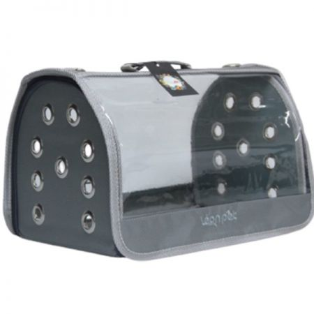 Leon Pet Şeffaf Fly Bag Taşıma Çantası Gri 46x26x26h Cm