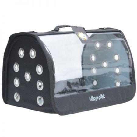 Leon Pet Şeffaf Fly Bag Taşıma Çantası Siyah 46x26x26h Cm