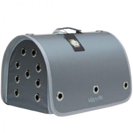 Leon Pet Kapalı Fly Bag Taşıma Çantası Gri 26x42x26h Cm