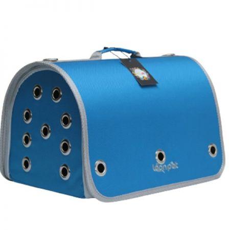 Leon Pet Kapalı Fly Bag Taşıma Çantası Mavi 26x42x26h Cm