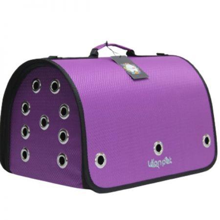 Leon Pet Kapalı Fly Bag Taşıma Çantası Morı 26x42x26h Cm