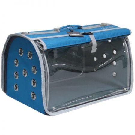 Leon Pet İki Fonksiyonlu Akustik Taşıma Çantası Mavi 32x48x28h Cm