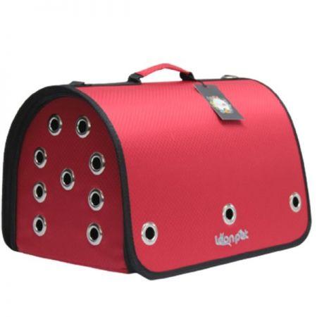 Leon Pet Kapalı Fly Bag Taşıma Çantası Kırmızı 26x42x26h Cm