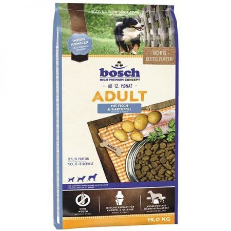 Bosch Adult Glutensiz Balıklı Ve Patatesli Yetişkin Köpek Maması 15 Kg