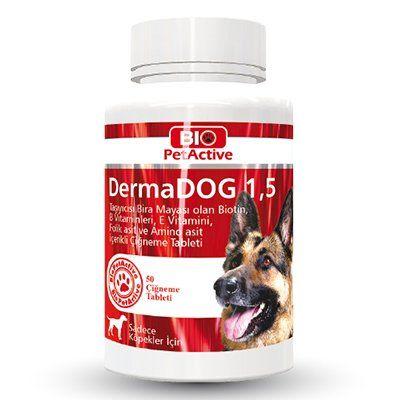 Pet Active Dermadog Büyük Irk Köpekler İçin Sarımsaklı Maya Tableti 100 Adet 150 Gr