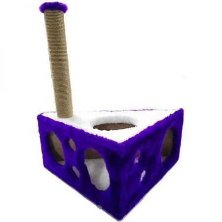 Cat Hause Y04 Peynir Kedi Tırmalama Mor 67 Cm