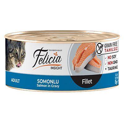 Felicia Tahılsız Somonlu Fileto Yetişkin Kedi Konservesi 85 Gr