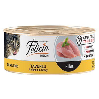 Felicia Tahılsız Tavuklu Fileto Kısırlaştırılmış Kedi Konservesi 85 Gr