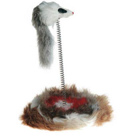 Flamingo Yaylı Fare Kedi Oyuncağı 14-26 cm