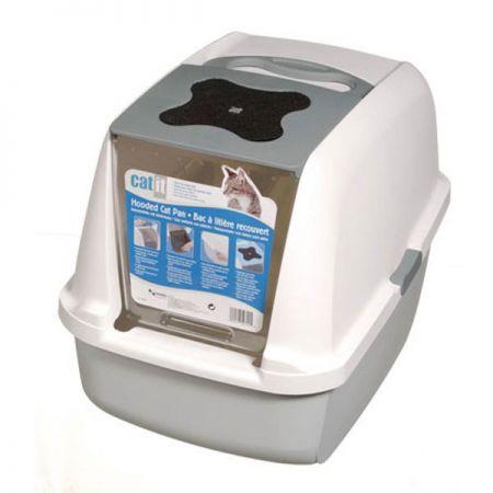 Catıt Kapalı Kedi Tuvalet Kabini Gri (57x46,5x39)