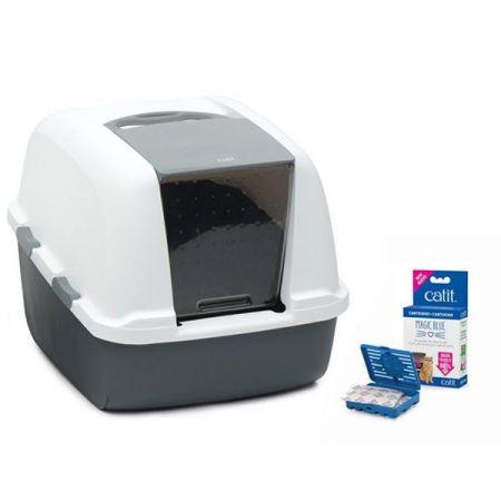 Catit Magıc Blue Litter Box Jumbo Kapalı Kedi Tuvaleti 57x46,5x43 cm