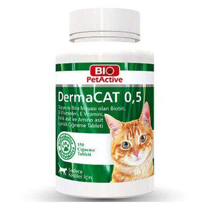 Pet Active Dermacat Kediler İçin Sarımsaklı Maya Tableti 150 Adet 75 Gr