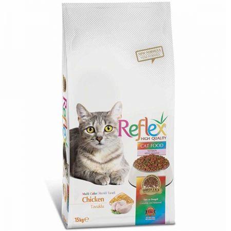 Reflex Tavuklu Renkli Taneli Yetişkin Kedi Maması 15 Kg
