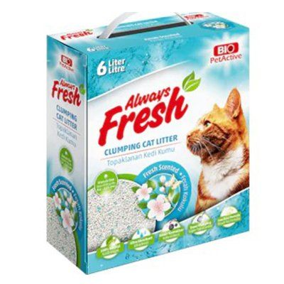 Pet Active Always Fresh Ferah Kokulu Topaklanan Bentonite Kedi Kumu 6 Lt