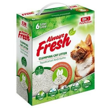 Pet Active Always Fresh Doğal Kokusuz Topaklanan Bentonite Kedi Kumu 6 Lt