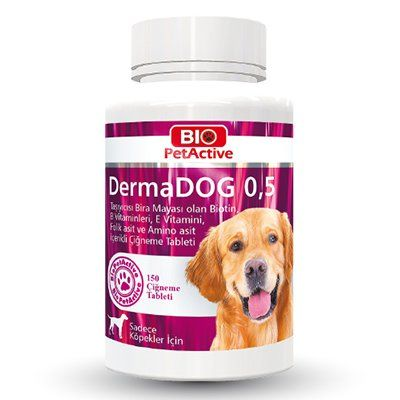 Pet Active Dermadog Küçük Irk Köpekler İçin Sarımsaklı Maya Tableti 150 Adet 75 Gr