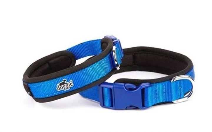 Doggie Havalı Dokuma Köpek Boyun Tasması Medium Mavi 1,5x30-40 Cm