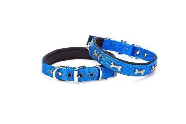 Doggie Comfort Dokuma Kemikli Köpek Boyun Tasması Medium Mavi 2x35-40 Cm