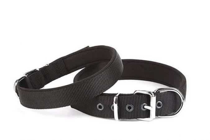 Doggie Comfort Dokuma Köpek Boyun Tasması Medium Siyah 3x42-50 Cm