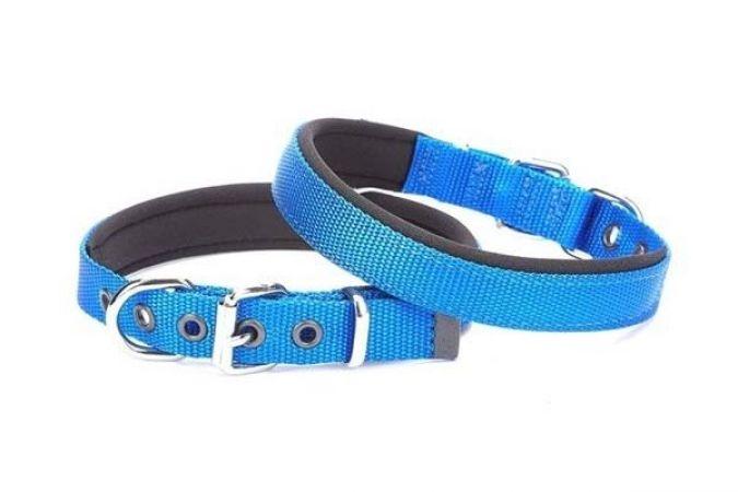 Doggie Comfort Dokuma Köpek Boyun Tasması Medium Mavi 1,5x25-30cm