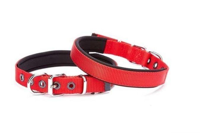 Doggie Comfort Dokuma Köpek Boyun Tasması Medium Kırmızı 1,5x25-30cm
