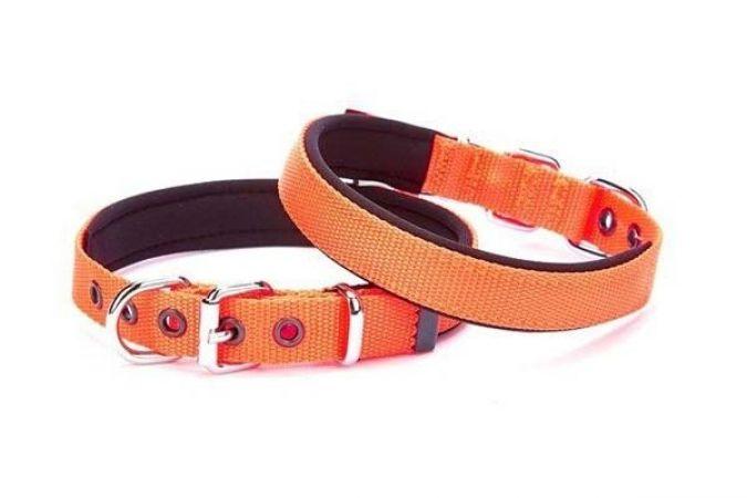 Doggie Comfort Dokuma Köpek Boyun Tasması Medium Turuncu 1,5x25-30cm