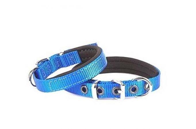 Doggie Comfort Dokuma Köpek Boyun Tasması Medium Mavi