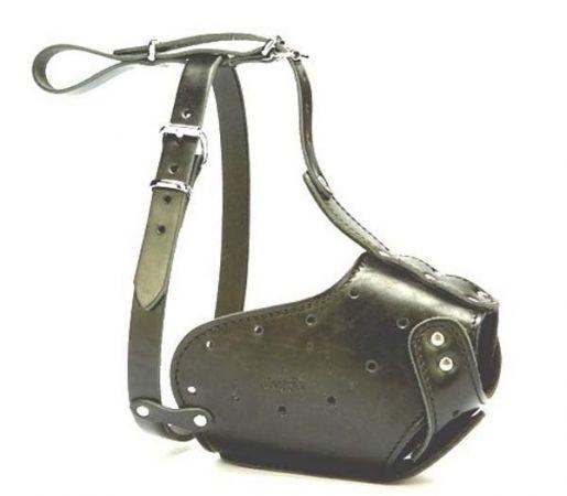 Doggie Uzun Burun Koruma Deri Köpek Ağızlık XLarge Siyah 2x60-65 Cm