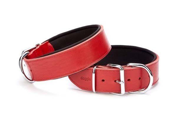 Doggie Güçlü Deri Köpek Boyun Tasması Medium Kırmızı 5x55-65 Cm