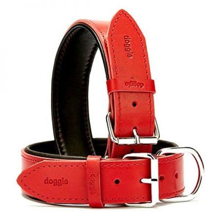 Doggie Fırstclass Köpek Deri Boyun Tasması Small Kırmızı 4x47-55 Cm