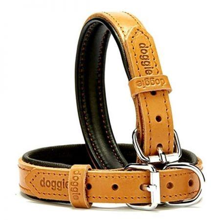 Doggie Fırstclass Köpek Deri Boyun Tasması Medium Camel 2x35-40 Cm