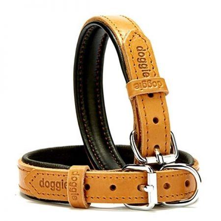 Doggie Fırstclass Köpek Deri Boyun Tasması Small Camel 2x30-35 Cm