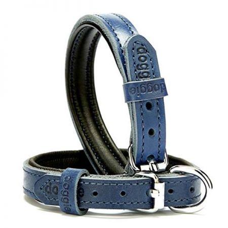 Doggie Fırstclass Köpek Deri Boyun Tasması Medium Mavi 1,5x25-30 Cm